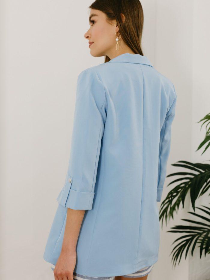 Blazer bleu pastel