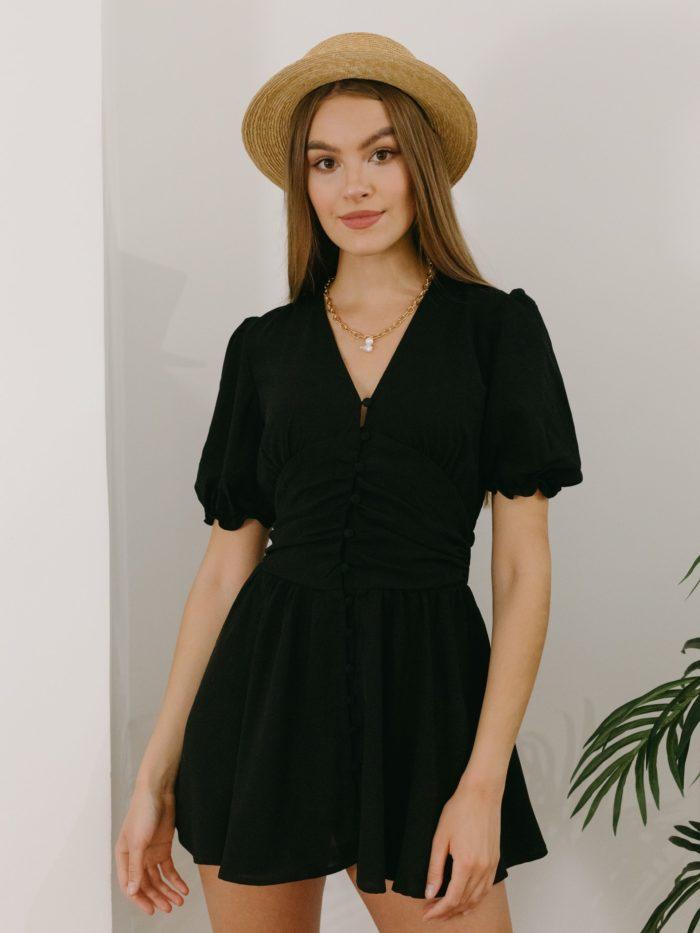 Robe courte noire Bonifacio