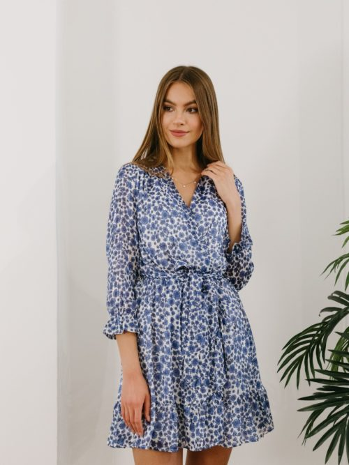 robe courte imprimé fleuri